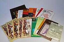 A quantity of show and stage theatre ephemera, to include various programmes for Regents Park, Winds