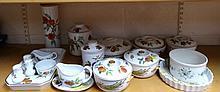 Various Royal Worcester Evesham pattern part dinnerware, to include storage jar, cookie jar, other g