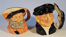 Royal Doulton character jug, Lobsterman D6617 and another Falstaff D6287, 16.5cm high, both large. (