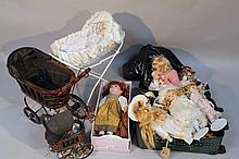 A quantity of Leonardo collection and other dolls and accessories, each of modern construction, some