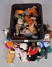 Various Beanie Baby bears, of various designs, bears, duck, 12cm high, etc. (a quantity)