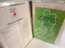 Various cricket ephemera, to include newspaper clippings, signature sheets, etc, mainly 1980's and f