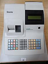 A Sam4s electronic cash register, no. ER-420M with instruction manual, 31cm high.