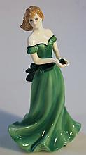 A Royal Worcester Birthstone Crystal figure, Gemini, limited edition of 2000, printed marks beneath,