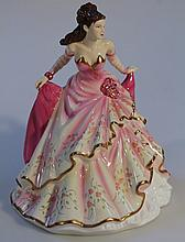 A Royal Doulton Pretty Ladies figure, figure of the year 2009, Grace, printed marks beneath, 23cm hi