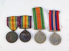 A WWI medal duo, comprising Campaign medal and Victory medal, each awarded to 288358 SPR. J. H. Driv