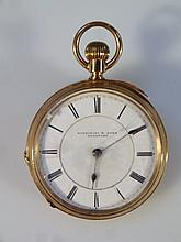 A Edwardian Fattorini ladies pocket watch, the 3.5cm dia. circular enamel dial with Roman numerals,