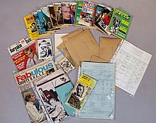 Various Man From U.N.C.L.E. ephemera and wares, to include fan club ephemera, several call sheets, s