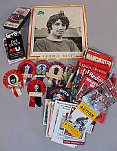 Various Manchester United ephemera, etc, to include 1960's and later; George Best card, rosettes, va