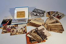 Various postcards and ephemera, to include, black & white and coloured scenes, modern advertising ca