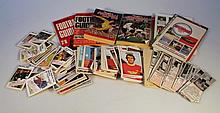 Various football trade cards and ephemera, to include Esso Action Station World Cup cards, A & BC Fo