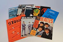 Various pop music ephemera, to include Meet The Beatles magazine, The Beatles, Rolling Stones sheet