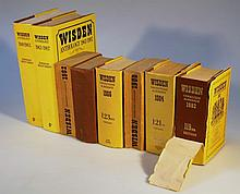 Various Wisden Cricketer's Almanack, to include 1958,1960, some later, some with dust jackets, etc.