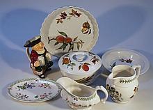 Various Royal Worcester Evesham pattern dinnerware, to include quiche dish, 25cm dia. etc, Botanic G