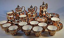 Various Barrett and Varey Lancashire Rose dinnerware, to include coffee pot 22cm high, teapot, tanka