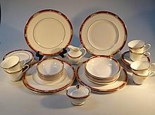 A Royal Doulton Sandon part dinner service, to include dinner plates, 27cm dia., bowls, cups, saucer