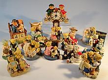 A quantity of Avon Loveable Teddies figures, to include Sarah and Theodore clock, 13cm high, etc. (a