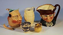 A Royal Doulton character jug Old Charley, large 17cm high, and a quantity of other ceramics to incl