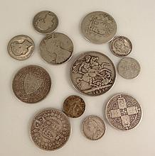 Various Victorian coins, to include 1892 crown, other half crowns, 6d, etc. (a quantity)