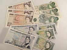 GB bank notes, to include Nightingale Gill 10 pound ER01001741, two others similar, Wellington 5 pou