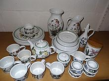 Various Portmeirion Botanic Garden and other wares, to include jug, 12cm high, cups, preserve pot, v