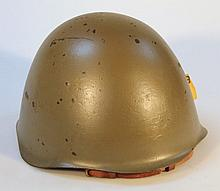 A Belgium post war steel infantry helmet.