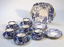 A Royal Crown Derby part tea service, to include