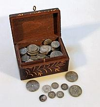 Various pre-decimal coins, to include 6d, George