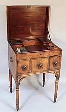 A George III mahogany night chest, the plain lid
