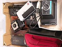 Various cameras and accessories, to include Polar