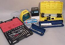 Various tools, etc, to include a Micrometer Drape