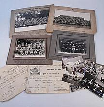 Various military related photographs, and ephemer