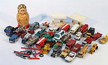 Various die-cast vehicles, to include Husky, Chit