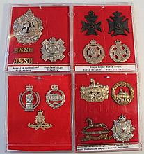 Various Army cap badges, to include Gloucester Re