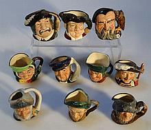 Ten various Royal Doulton character jugs, to incl