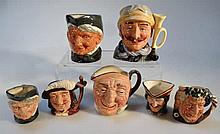 Seven various Royal Doulton character jugs, to in