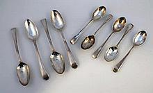 Georgian and later silver flatware, to include a