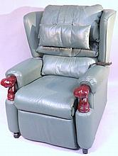 A Willowbrook electric reclining armchair, in gre