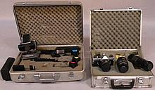 Various cameras and accessories, to include a CSR