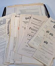 Various ephemera, Ramsgate and other Kent related