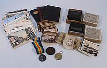 Various WWI related medals, ephemera, photographs