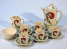 A Royal Doulton Lynn pattern part coffee service,