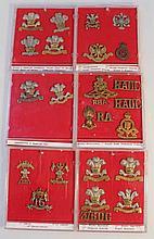 Various Army cap badges, to include Flinton Denbi