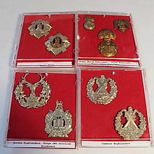 Various Army cap badges, to include Royal Welsh F