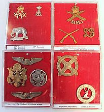 Various Army cap badges, to include 19th Hussars