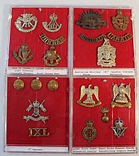 Various Army cap badges, to include Light Invento