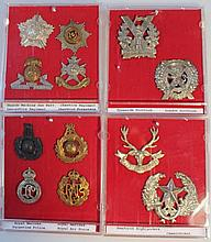 Various Army cap badges, to include Tyneside Scot