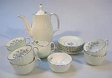 A Royal Adderley bone china coffee service, to in