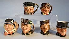Various Royal Doulton character jugs, to include