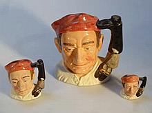 Three Royal Doulton character jugs, comprising fr